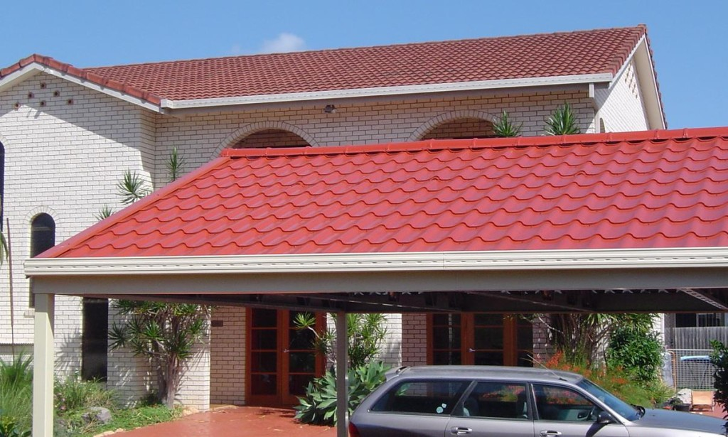Palapas with spanish style roof galvatec for Spanish style roof tiles
